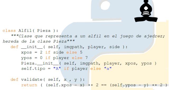 Clase Alfil en Python