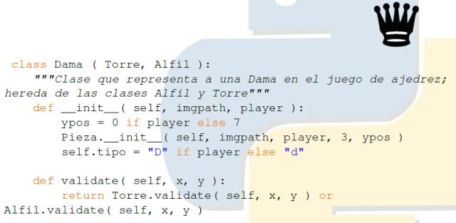 Clase Dama en Python