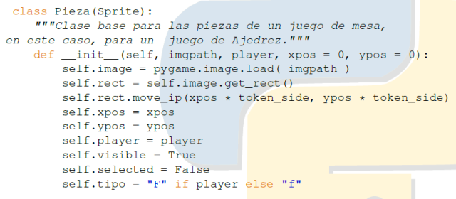 Clase Pieza de ajedrez en Python