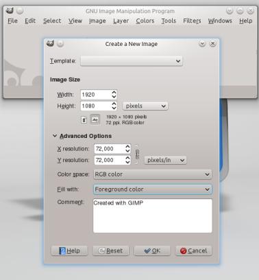 Documento de GIMP.