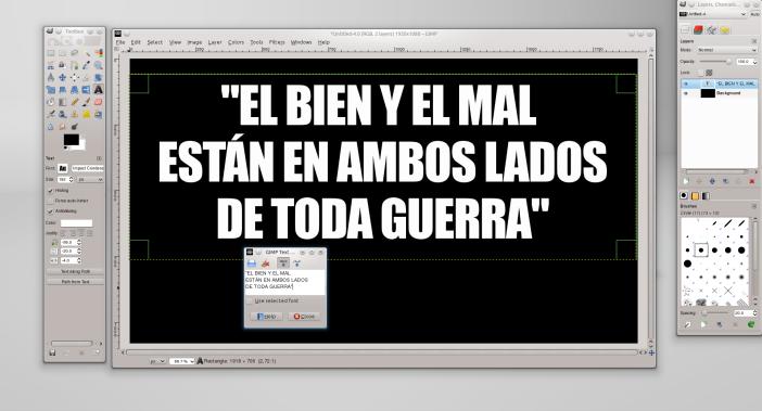 Texto en GIMP.
