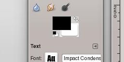 Color de fondo en GIMP.