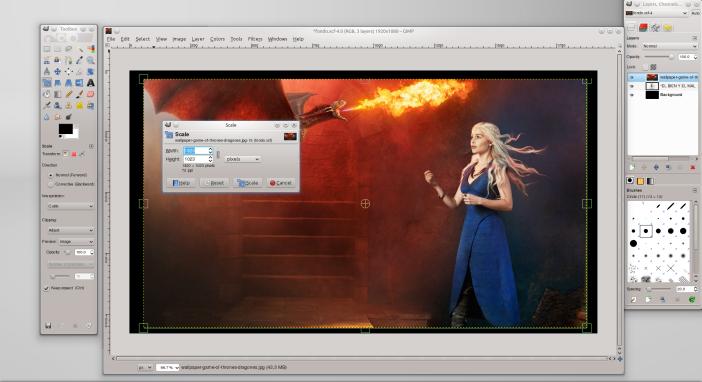 Imagen en GIMP.